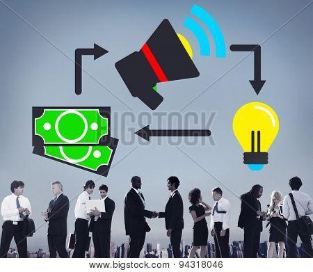 Marketing Promotion Branding Budget Financial Ideas Concept