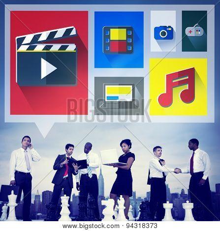 Media Internet Multimedia Sharing Networking Social Concept