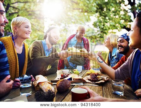 Friends Friendship Vacation Together Picnic Concept