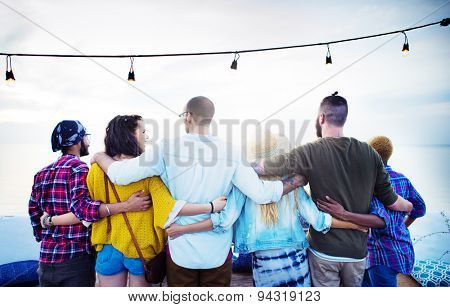 Friends Friendship Group Hug Relationship Concept