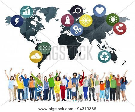 Global Communication World Earth Connection Network Concept