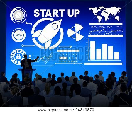 Corporate Business People Start Up Presentation Seminar Concept