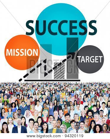 Success Mission Target Business Growth Planning Concept