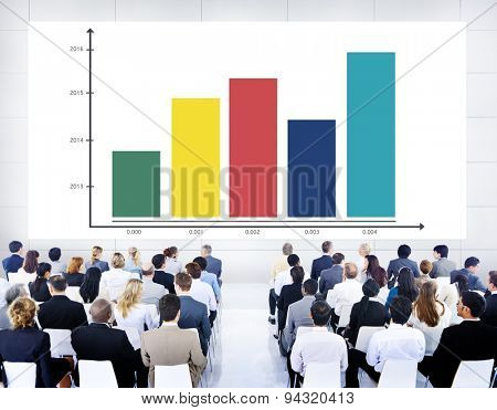 Strategy Bar Graph Business Growth Concept