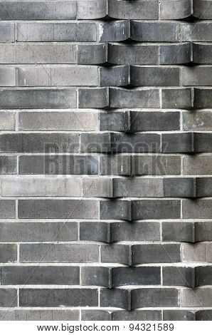 Extruded Brick Wall