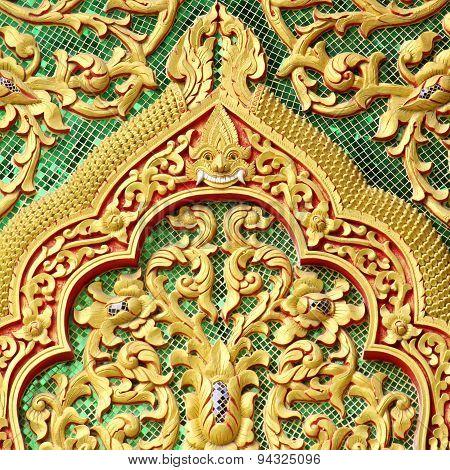 Gable Detail Temple Wat Muen Lan Chiangmai