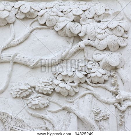Texture Of  Stucco White Color