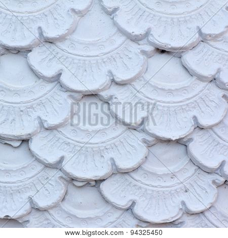 Texture Of Stucco Pattern White Color Wall