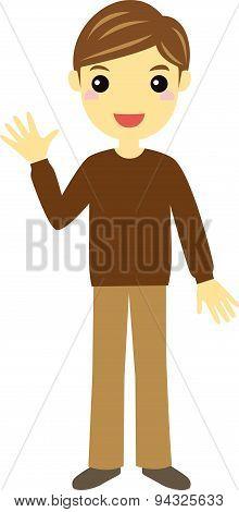 Man Wearing Brown Sweater