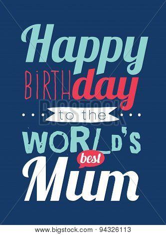 Happy Birthday to best mother