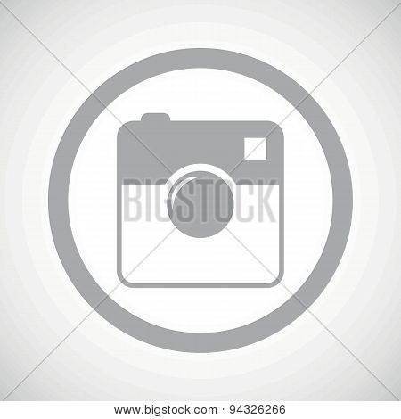 Grey square camera sign icon