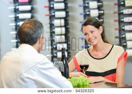 Couple enjoying a romantic meal
