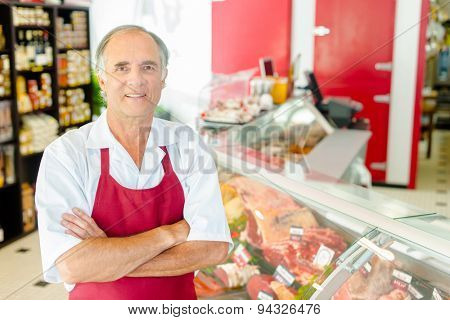 Man in delicatessen