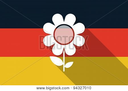 Germany  Long Shadow Flag With A Flower