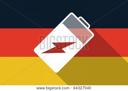 Germany  Long Shadow Flag With A Battery