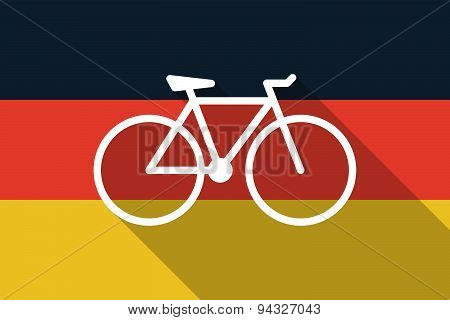 Germany  Long Shadow Flag With A Bicycle