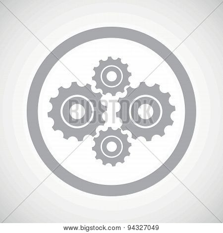 Grey cogs sign icon