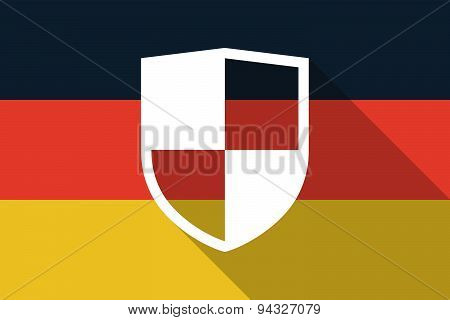 Germany  Long Shadow Flag With A Shield