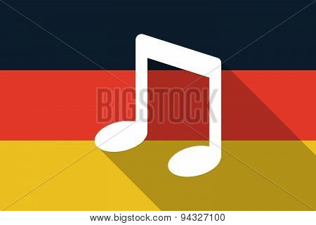 Germany  Long Shadow Flag With A Note Music