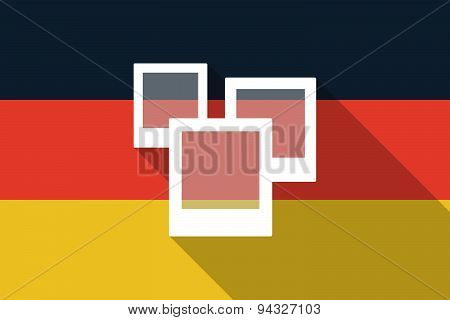 Germany  Long Shadow Flag With A Photo Bunch