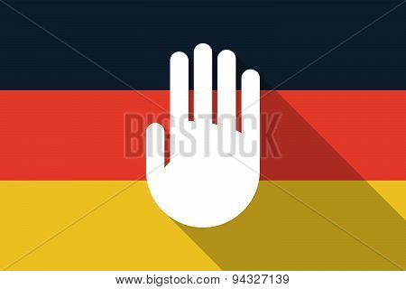 Germany  Long Shadow Flag With A Hand