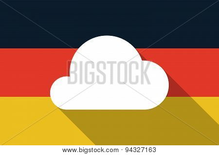 Germany  Long Shadow Flag With A Cloud