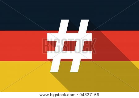 Germany  Long Shadow Flag With A Hash Tag