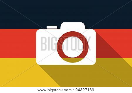 Germany  Long Shadow Flag With A Photo Camera