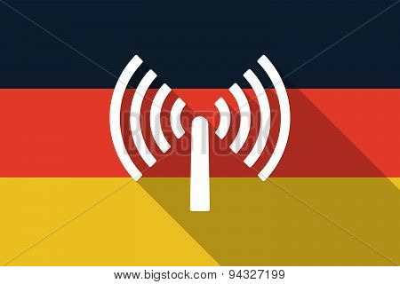 Germany  Long Shadow Flag With An Antenna