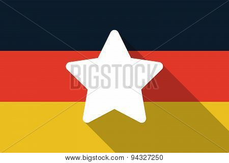Germany  Long Shadow Flag With A Star
