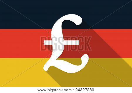 Germany Long Shadow Flag With A Pound Sign