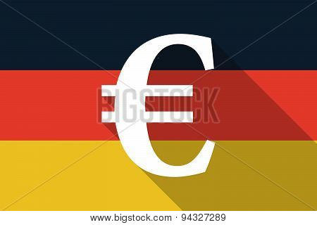 Germany  Long Shadow Flag With An Euro Sign