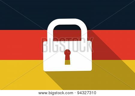 Germany  Long Shadow Flag With A Lock Pad