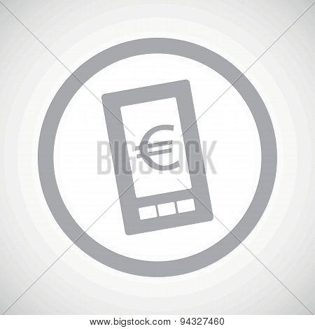 Grey euro screen sign icon