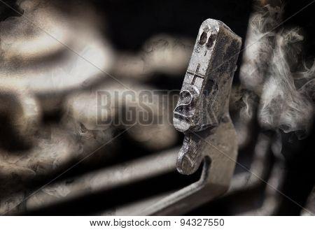 2 Hammer - Old Manual Typewriter - Mystery Smoke