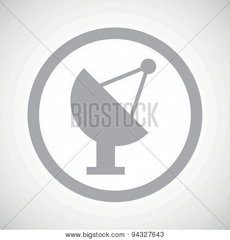 Grey satellite dish sign icon