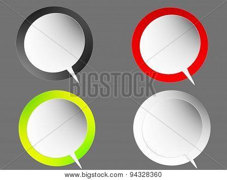 speech bubbles, circle shape, white color