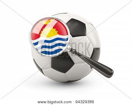 Football With Magnified Flag Of Kiribati