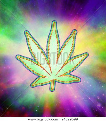 Marijuana Psychedelic Leaf