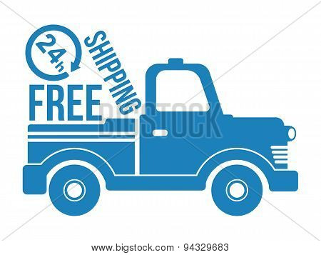 Free Shipping Icon. Vector.