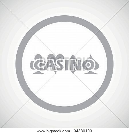 Grey casino sign icon