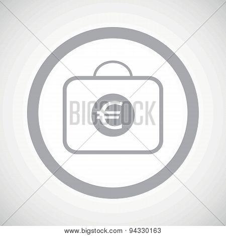 Grey euro bag sign icon