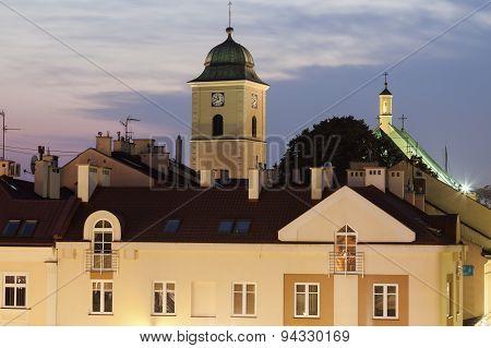 St Wojciech And Stanislaw Church From Main Square - Rzeszow, Podkarpackie, Poland