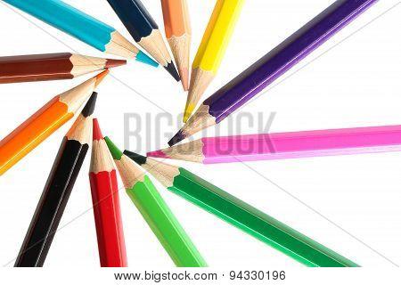 Color Pencils Circle