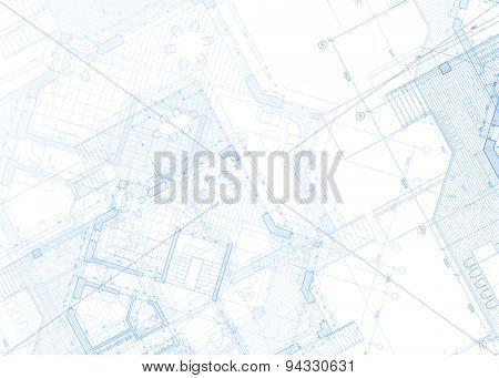 Architecture design: blueprint plans - vector illustration