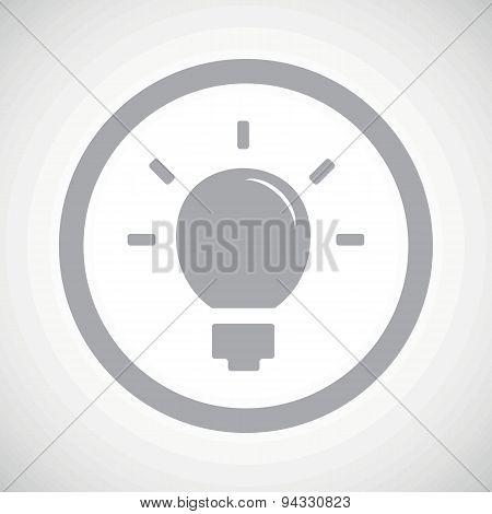 Grey light bulb sign icon