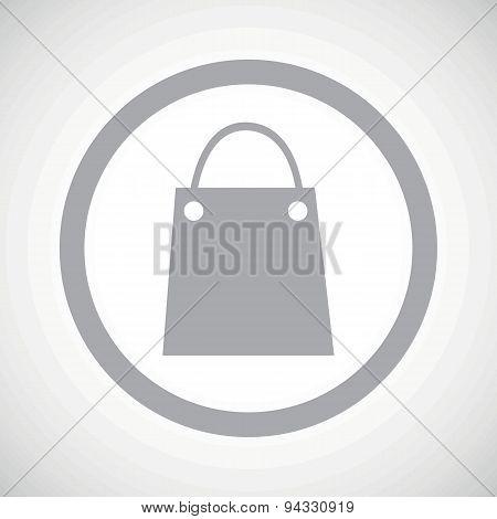 Grey shopping bag sign icon