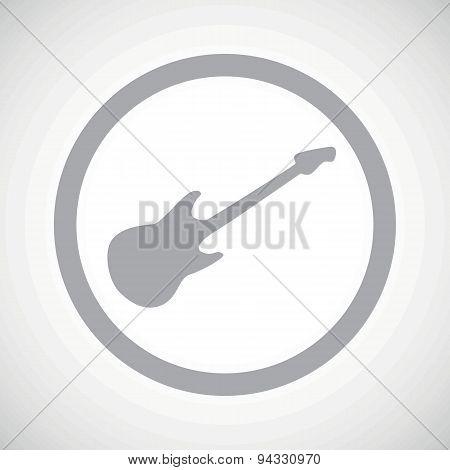 Grey guitar sign icon