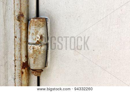 Rusty door hinge so long.