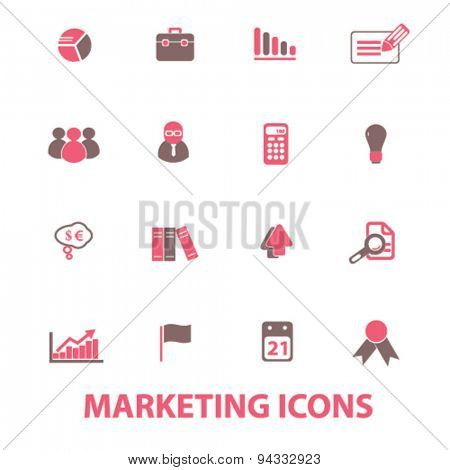 marketing, market, presentation isolated icons, signs, illustrations, vector for internet, website, mobile application on white background